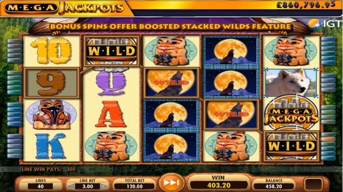 MegaJackpots Wolf Run Slot Machine