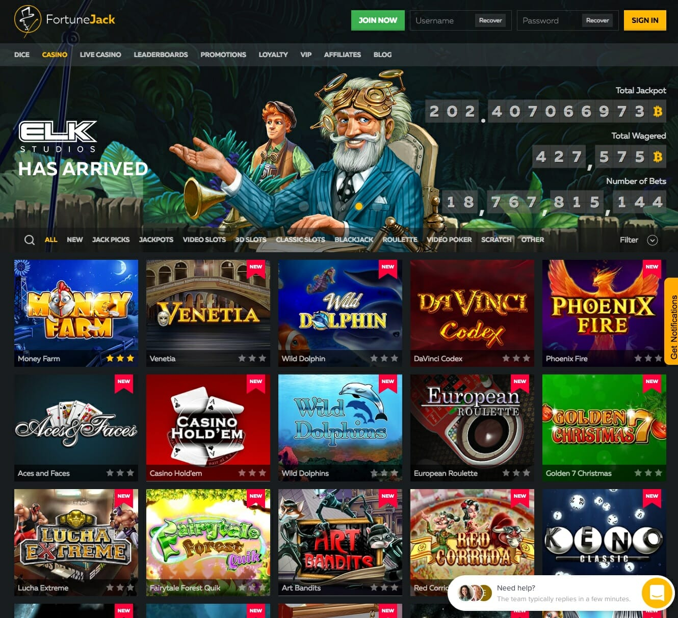Fortunejack Review And No Deposit Bonus 2020 With Free Spins