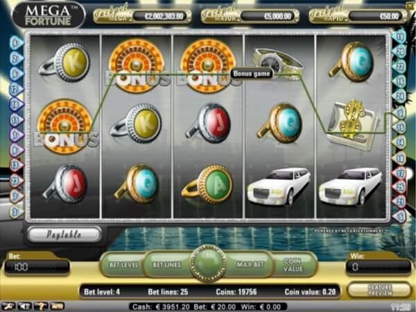NetEnt's Mega Fortune Jackpot Slot
