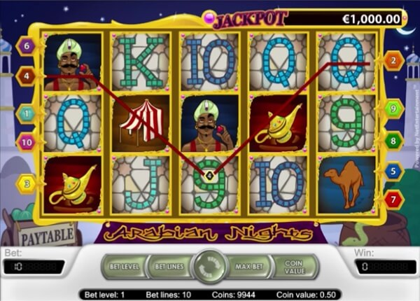 NetEnt's Arabian Nights Jackpot Slot