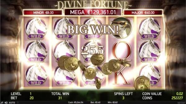 NetEnt's Divine Fortune Jackpot Slot