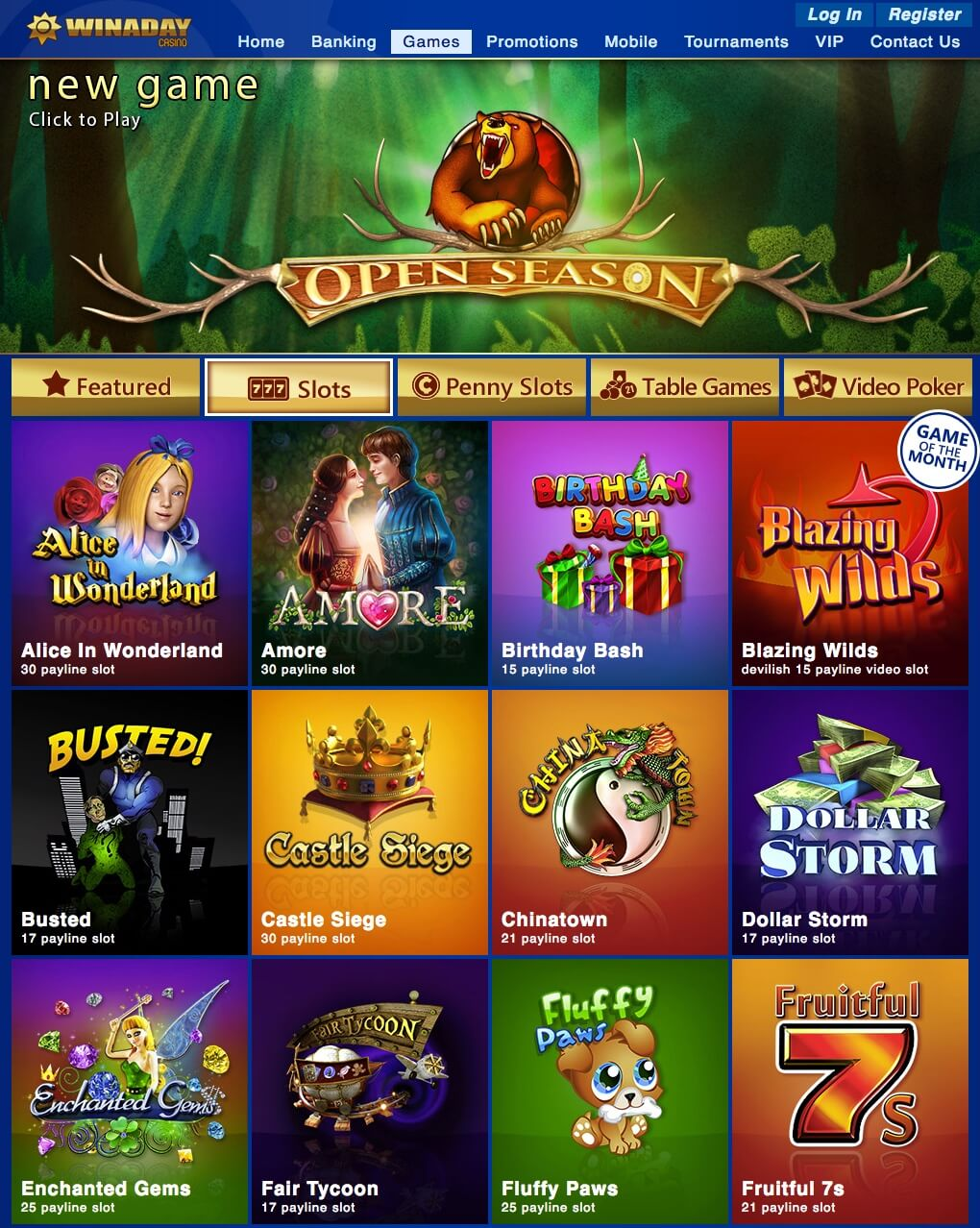 Winaday Casino Login