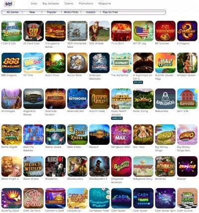 Wink slots promo codes no deposit free