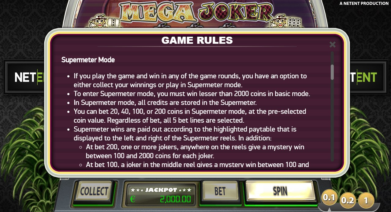 Mega Joker Slot Review And Casinos To Play At 2021